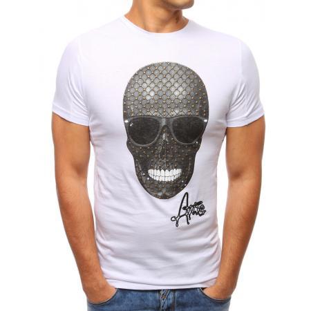 Pánské moderní tričko s potiskem bílé 55391d9bb0