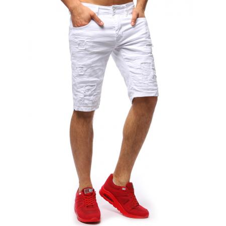 5af5dda9daa Pánské jeansové kraťasy STYLE białe