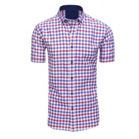 43b1fd36816d Pánska košeľa kockovaná s krátkym rukávom