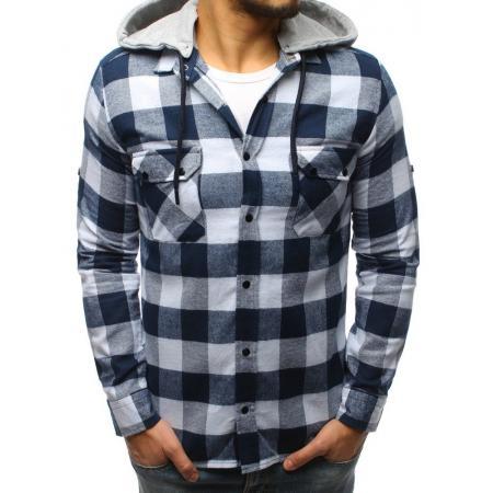 03496e433657 Pánska STYLE košeľa pruhovaná bielo-modrá