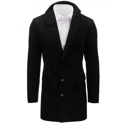 ef6caefabf7 Pánský černý kabát