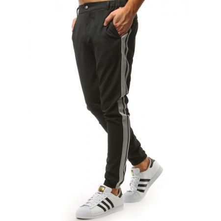 Pánské STYLE kalhoty joggery s pruhem černé b2c328f720
