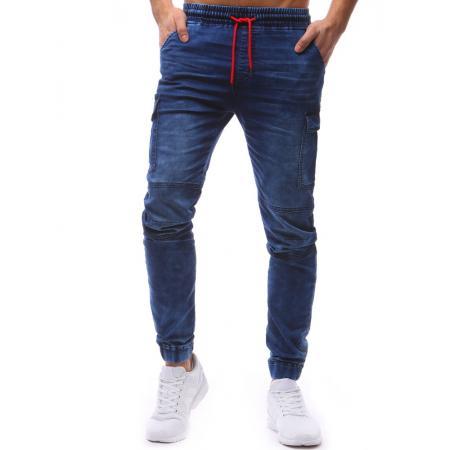 Pánské jogger kalhoty denim look světle modré 60cdf17a19
