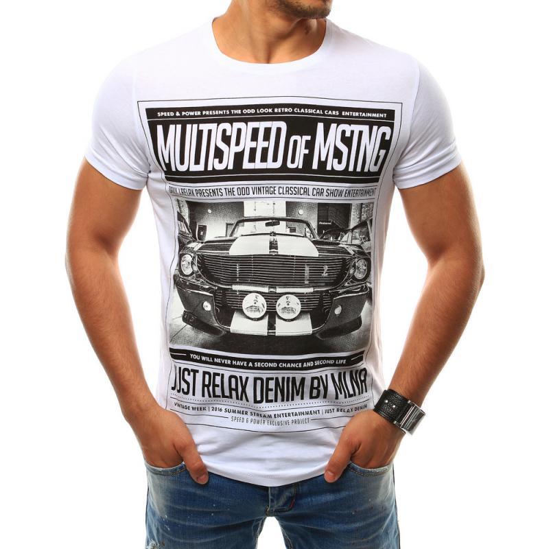 Pánska tričko s potlačou bielej  4b67e4770e6