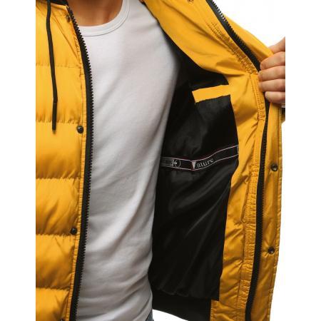ae9107387920 Pánska zimná bunda prešívaná žltá