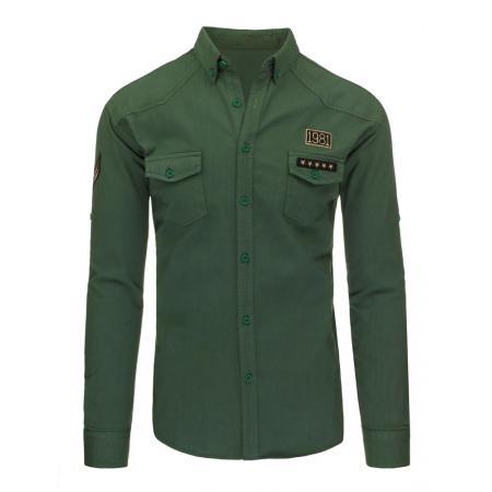 Pánská stylová košile zelená bb7ab8964b