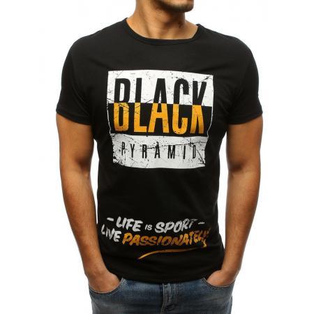Pánské tričko s potiskem černé eda62c9dbb