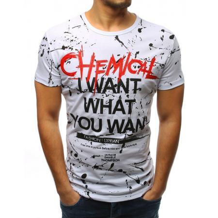Pánské tričko s potiskem bílé a709f4893b