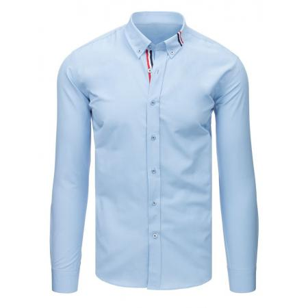 ad641c183bf Pánská ELEGANT košile světle modrá s trikolorou na límečku