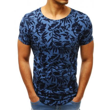9d0feb161d1a Pánske MODERN tričko s krátkym rukávom s potlačou modrej