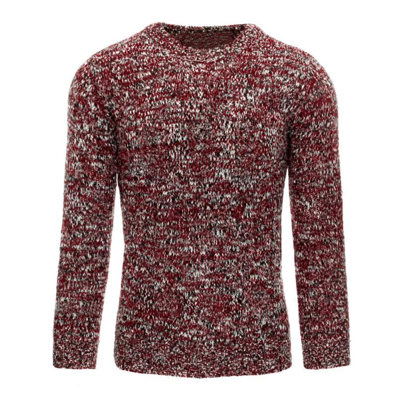 a1d965d39ad0 Pohodlný pánsky sveter vo farbe bordó