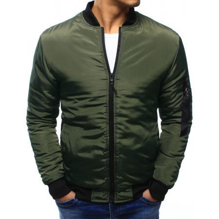 Pánska bunda bomber jacket zelená  16a0feea96f