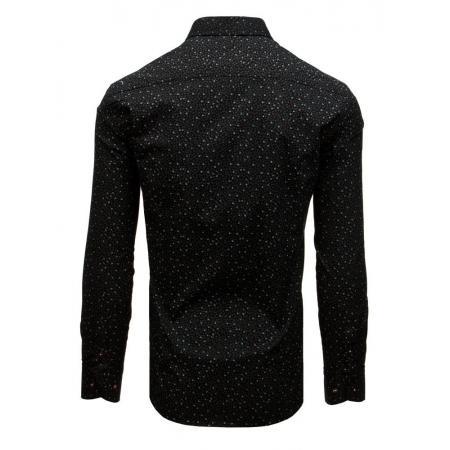 7c4da1b3f8eb Pánska elegantná košeľa so vzorom čierna