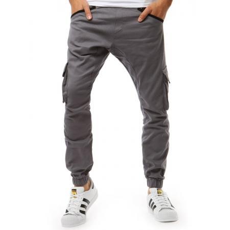 b181cd9c5355 Pánske nohavice STYLE JOGGER šedé