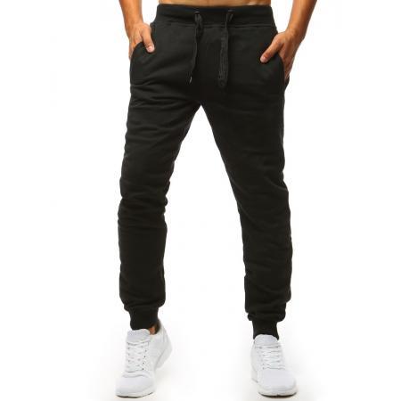 bf3bdda36eb Pánské kalhoty STYLE tepláky černé bez potisku