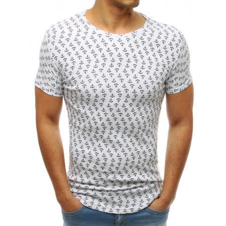 bc332d4f6a39 Pánske MODERN tričko s krátkym rukávom s potlačou bielej