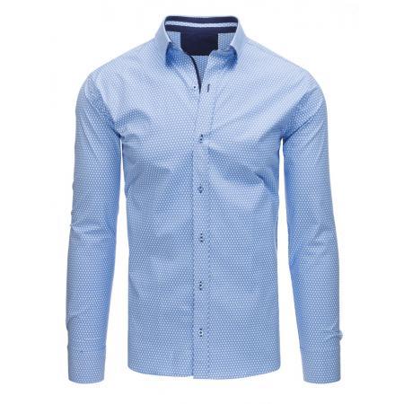 Pánská STYLE košile elegantní se vzory modrá f97992f09a