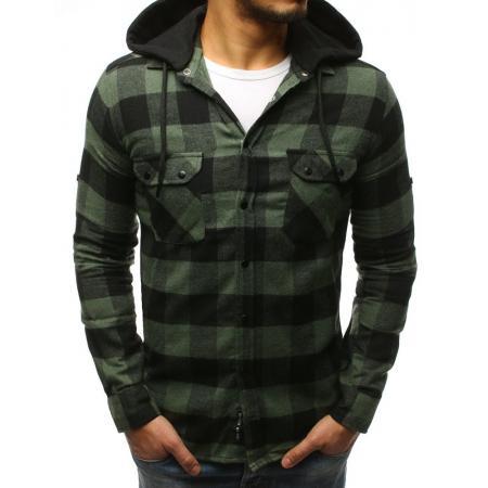 9449c0533186 Pánska STYLE košeľa pruhovaná zeleno-čierna