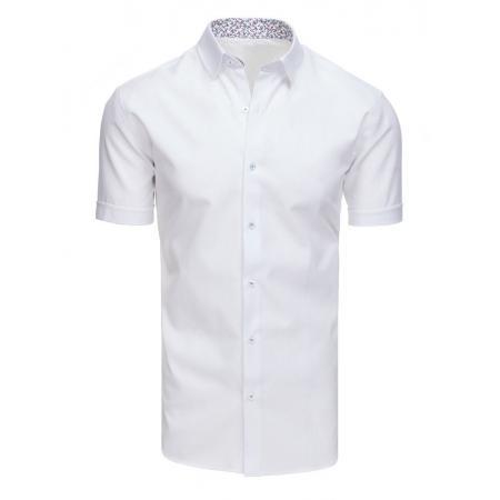 6eb15f0eef51 Elegantná pánska košeľa s krátkym rukávom biela