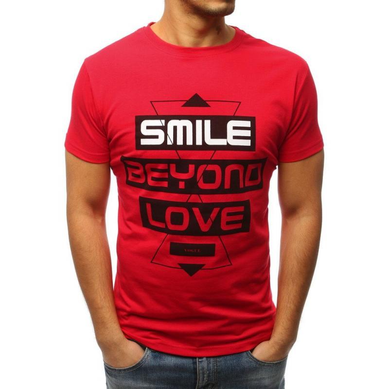 4100654071ca Pánská tričko MODERN s potiskem červené