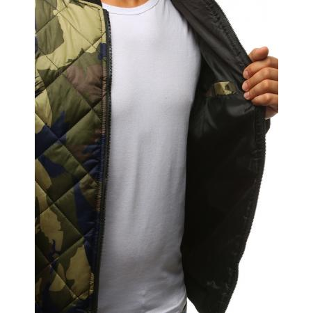 bae291bed336c Pánska maskáčová STYLE bunda prešívaná bomber jacket woodland camo ...