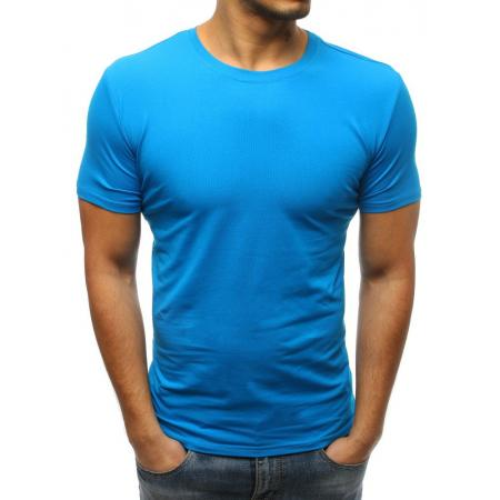 Pánske jednofarebné tričko STYLE modrej 5b412d531b3