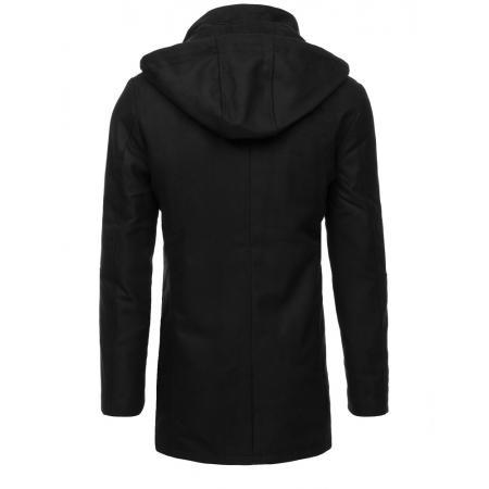 Pánsky kabát STYLE s kapucňou čierny 7a11de9ee04