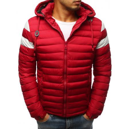 Pánska prešívaná zimná červená bunda 309ae753bf5