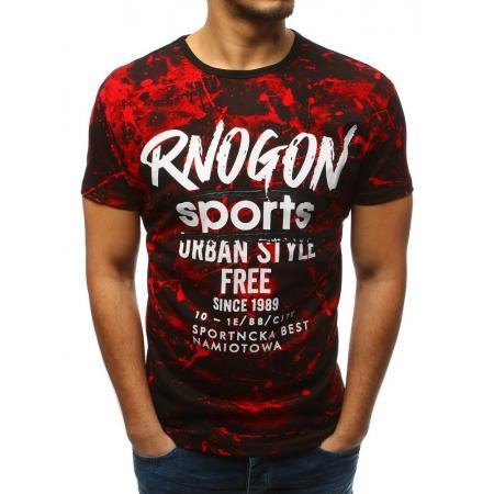 Pánske tričko s potlačou červenej 869e799a889