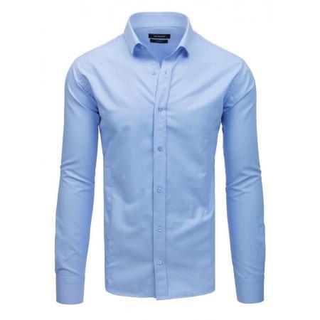 33c79ec491ef Pánska elegantná košeľa s dlhým rukávom modrá
