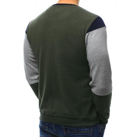 8f3d79e5eb357 Pánsky štýlový sveter s vreckom khaki-šedý | manSTYLE.sk