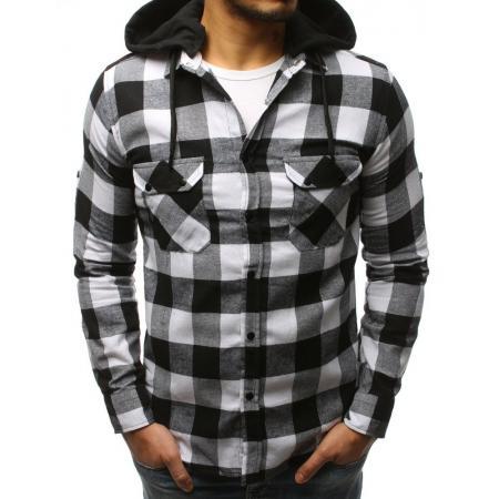 5ad560ea0896 Pánska STYLE košeľa pruhovaná bielo-čierna