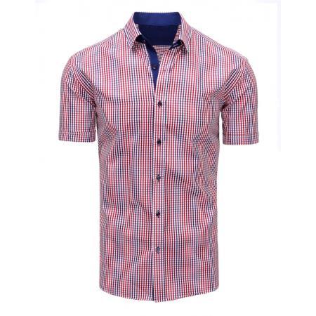 7d53c55a2bf Modro-červená pánská moderní košile čtverečkovaná