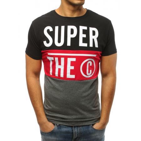 e3fcc29e92a9 Pánske tričko STYLE s potlačou čiernej