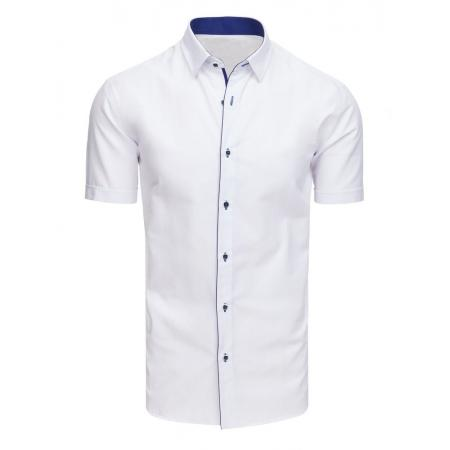 6a57651ff537 Elegantná pánska košeľa s krátkym rukávom biela