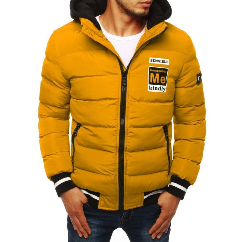Férfi kabát átmeneti sárga | manCLOTHES.hu