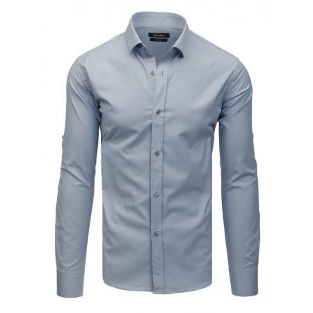 5f4a0971ae9c Pánska elegantná košeľa s dlhým rukávom sivá
