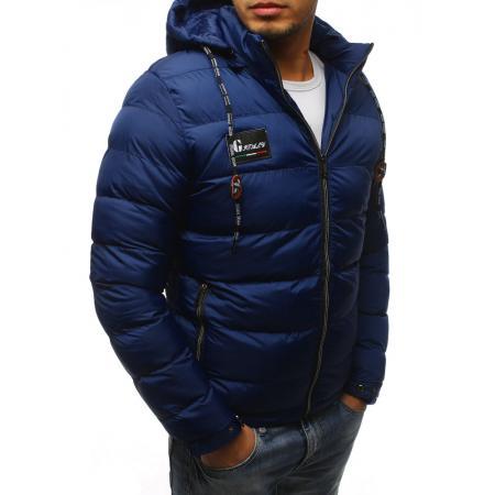 Pánska zimná bunda prešívaná námorníctva b62bbd90aa5