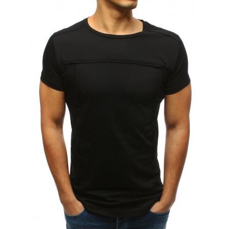 1d74624d1 Pánske ELEGANT tričko hladké jednofarebné čierne