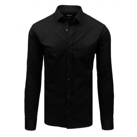 2dd3596bbb83 Pánska elegantná košeľa s dlhým rukávom čierna