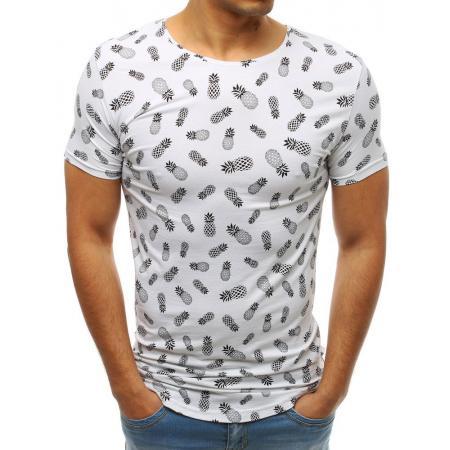 8808e9c2a719 Pánske MODERN tričko s krátkym rukávom s potlačou bielej