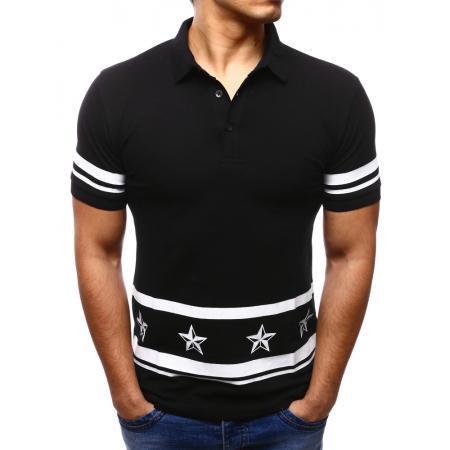 32ef4690885 Pánské polo tričko s krátkým rukávem černé