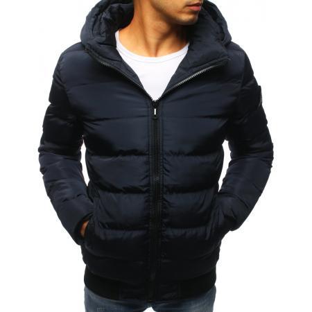 Pánska zimná bunda prešívaná granátová 31f88afa529