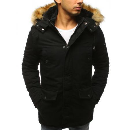 NewStyle Férfi fekete téli kabát télikabát f2371f1bd5