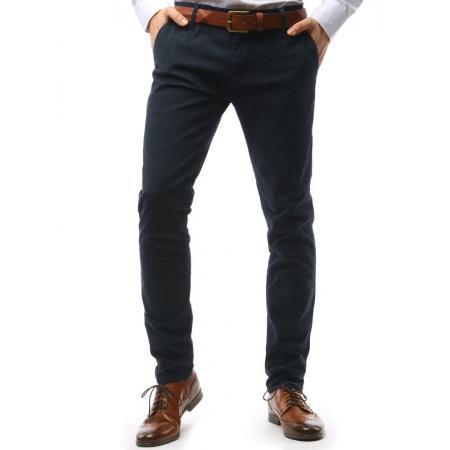 Pánské STYLE kalhoty tmavě modré kostkované a1cbca2281