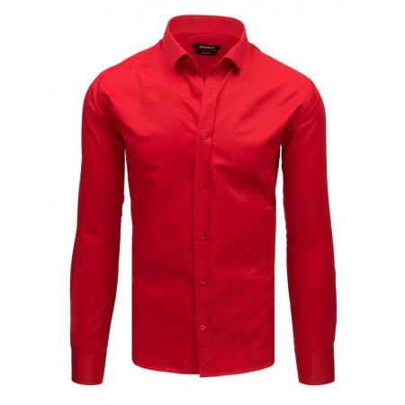 92cc5abc1980 Pánska elegantná košeľa s dlhým rukávom červená