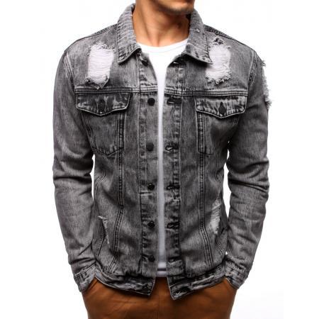 Pánska bunda džínsová sivá db36406ea0