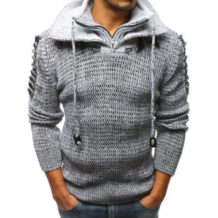 2d487ced4d83 Pánsky sveter biely STYLE