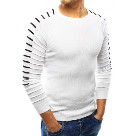 895c057a8cf0 Pánsky sveter biely
