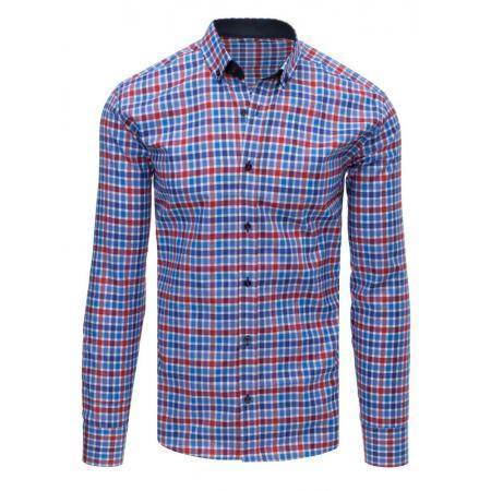 6fc8aacecda Pánská STYLE košile kostkovaná modrá-červená